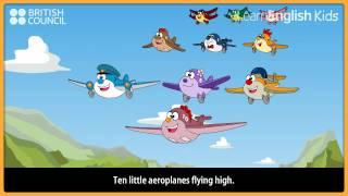 Diez pequeños aviones - canciones infantiles para Niños y Canciones - LearnEnglish Kids British Council