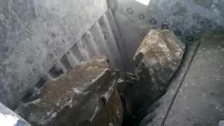 terex pegson xa400s jaw crusher in quarry