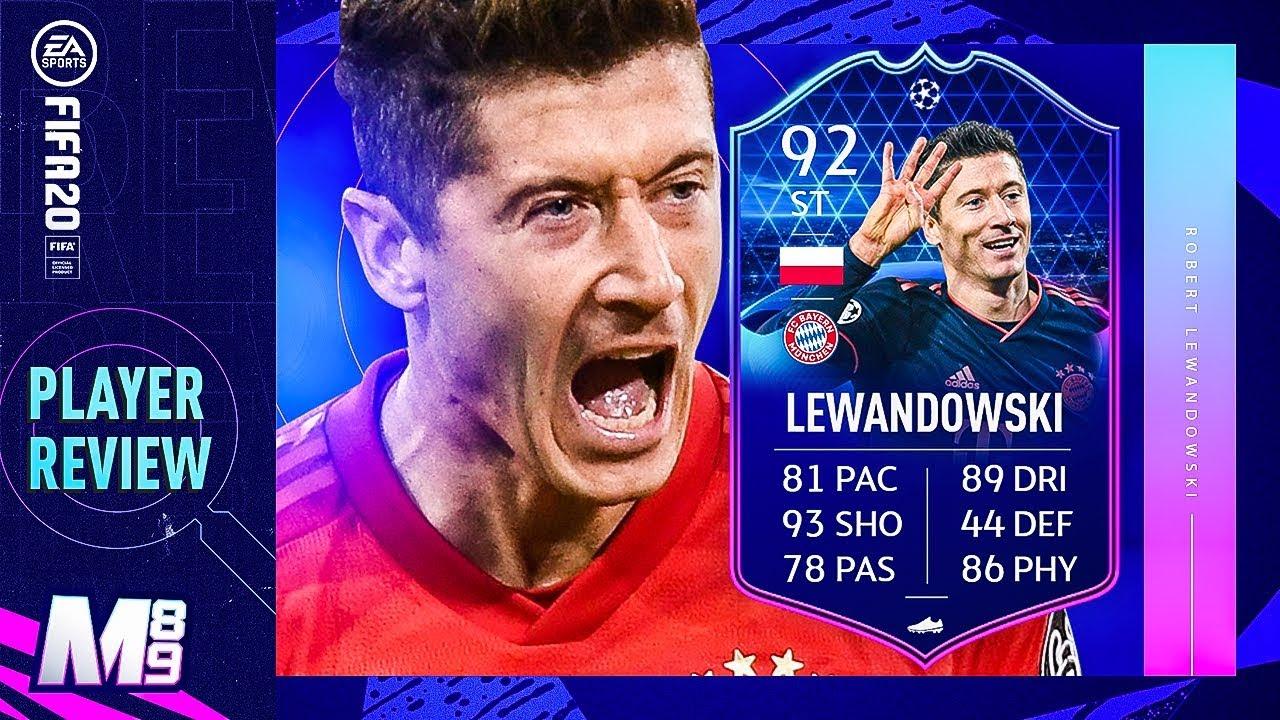 Fifa 20 Totgs Lewandowski Review 92 Totgs Lewandowski Player Review Fifa 20 Ultimate Team Youtube