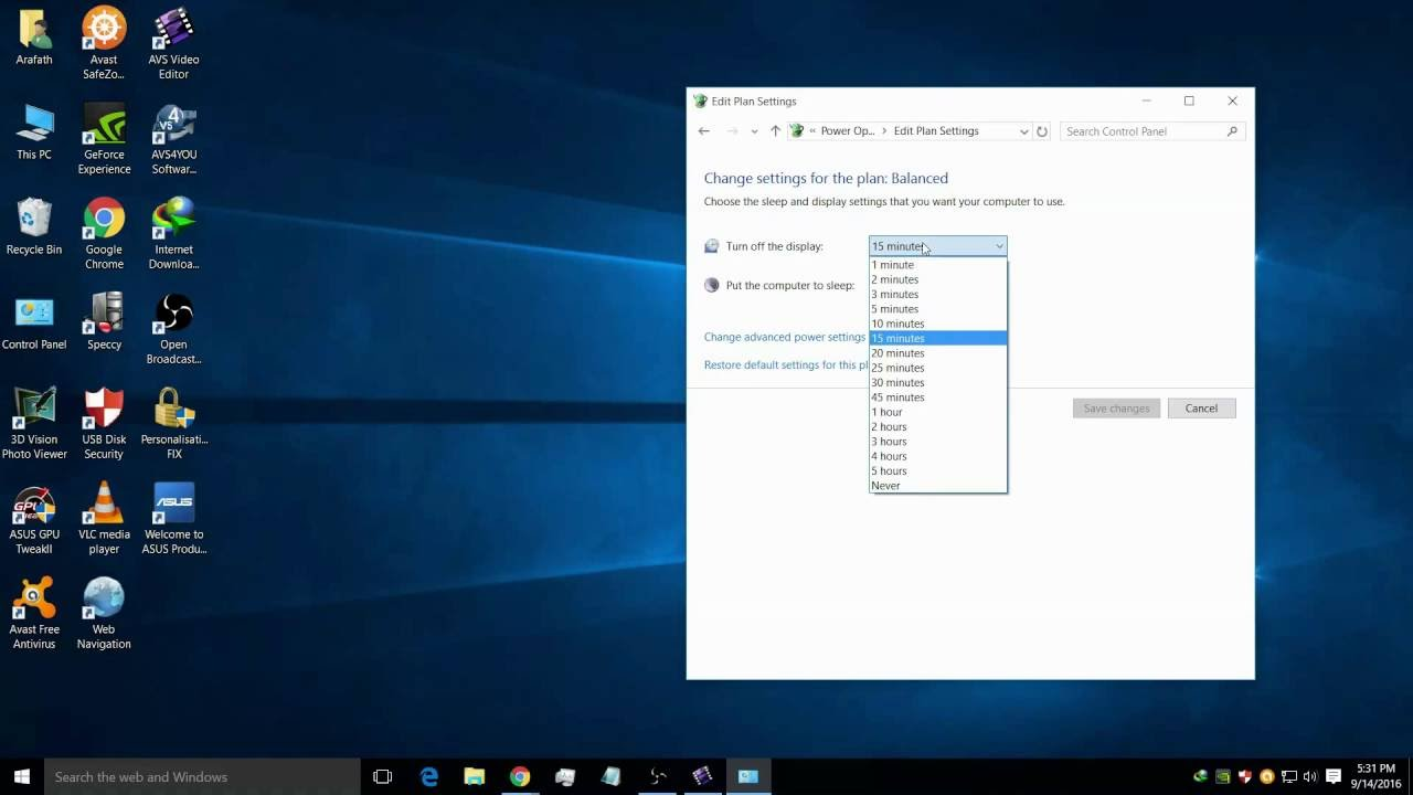 How to set screen timeout in windows 10 | Windows 7 | 8-8 ...