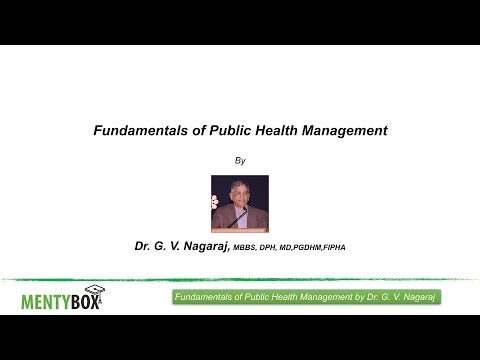 Fundamentals of Public Health Management