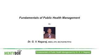 Fundamentals of Public Health Management