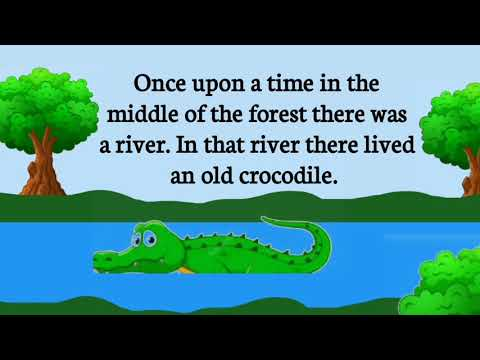 Story in English |The Crocodile and the Monkey |Story English|3 minute story|story|English Learning|