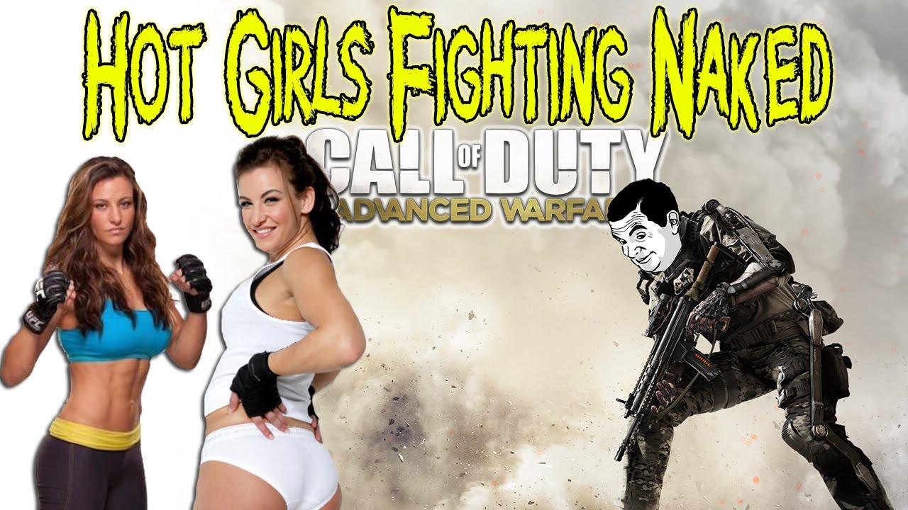 Hot Girls Fighting Naked on Advanced Warfare [Call of Duty