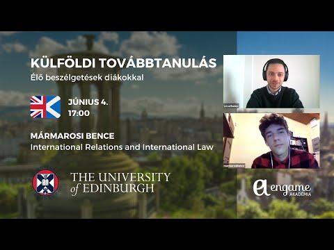 Külföldi továbbtanulás beszélgetés: Bence, Universtiy of Edinburgh, International Relations and Law