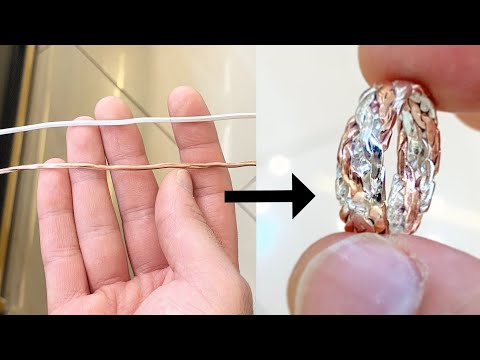 Making a Ring from Silver and Copper wire! New Design | Jewellery Making | How it's made | 4K Video