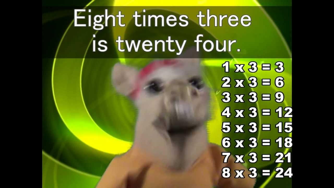 Multiplication tables song 1 12 gallery periodic table images multiplication songs 3 times tables images periodic table images the 3 times tables song youtube gamestrikefo gamestrikefo Images