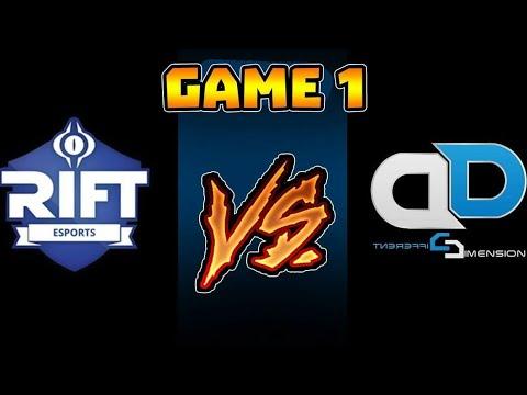 DD VS RIFT GAME#1