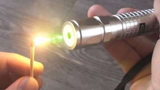 4x 100mW Burning Green Laser | Unboxing & Burning Stuff