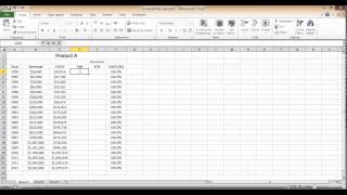 gross margin calculation in excel