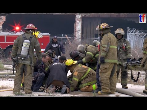 **Firefighter Down From Bucket** Detroit Fire Department - Box Alarm, Fisher Body Plant, 10/22/2014.