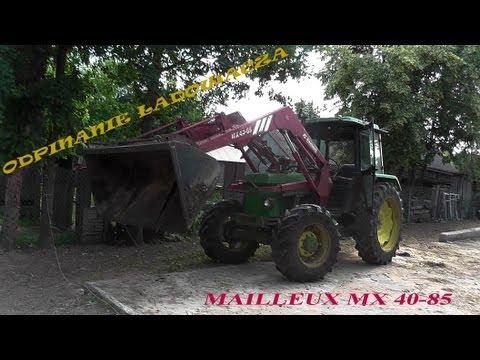 Odpinanie ładowacza Mailleux MX 40-85 z John Deere'a 1640