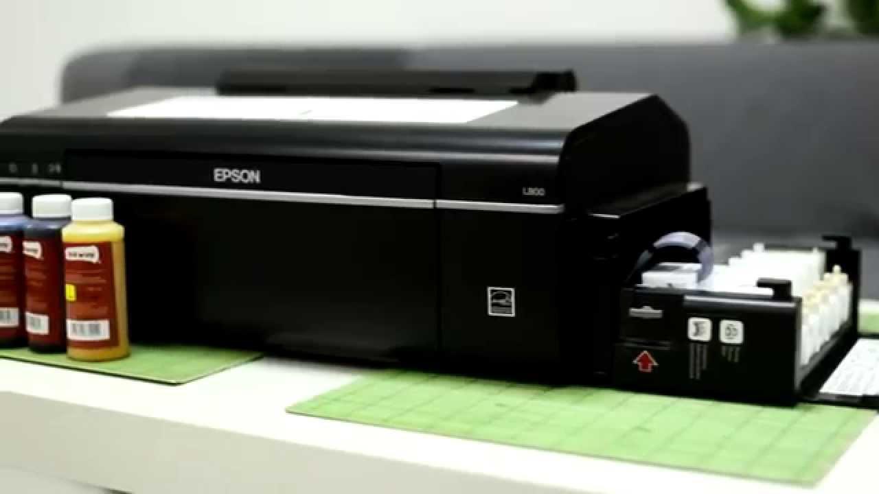 Перевод принтера Epson L800 на сублимационные чернила - YouTube