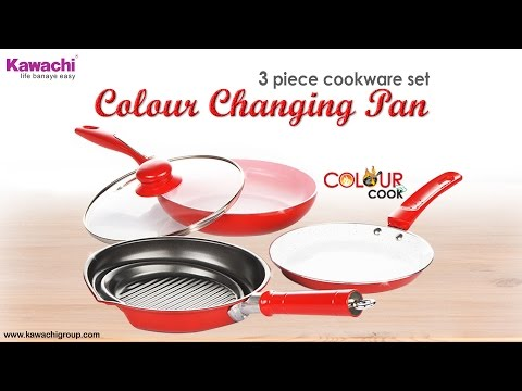 Non-Stick Ceramic Coated Color-Changing Pan Cookware Set