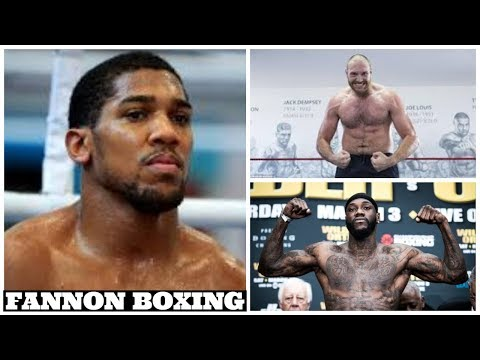 ANTHONY JOSHUA SNEAK DISSES DEONTAY WILDER AND TYSON FURY FIGHT | WHAT DID HE EXPECT?