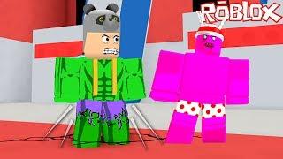 Hulk Geldi! Acayip Güçlü! - Panda ile Roblox Superhero Simulator