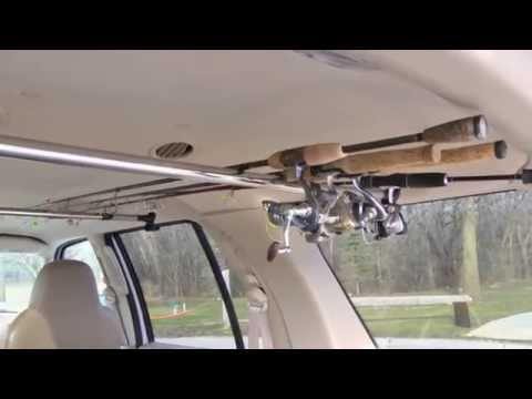 Best Fish rod reel storage tip in SUV keeps your favorite sticks ready Truck rod holder