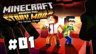 PAVOUČÍ CREEPER A HELLBOY   Minecraft Story Mode: Season 2   #1 - Epizoda 3   Pedro