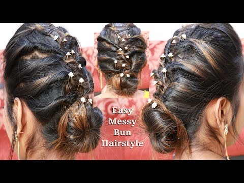 Easy hairstyle For Wedding/festival/Party || Hairstyle For occasion ||Easy Hairstyle in tamil thumbnail