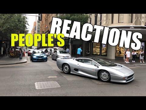 Jaguar XJ220 - People's Reactions in Sydney CBD in Australia