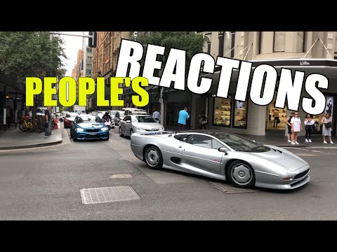 Jaguar XJ220 - People's Reactions In Sydney CIty In Australia