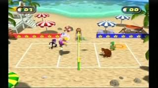 Mario Party 4 Beach Volley Folley: Battle Mode
