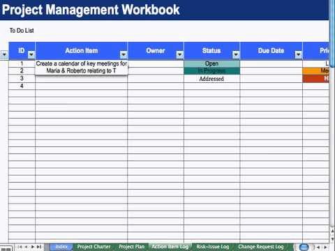 4) Action Item List - Project Management - YouTube