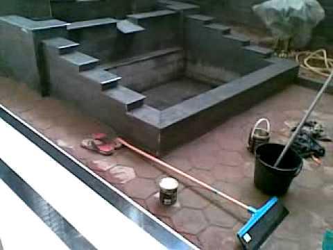 video pembuatan kolam ikan - youtube