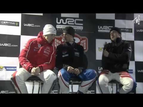 Robert Kubica Press Conference Live Day 1 WRC Rallye Monte Carlo 2014