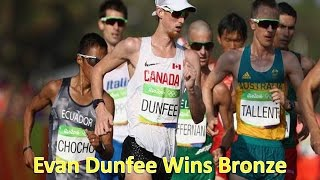 rio 2016 evan dunfee wins bronze medal 50 kms walk from the canada