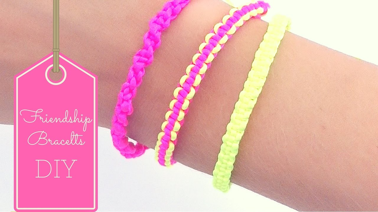 DIY Friendship bracelets ( EASY) - YouTube