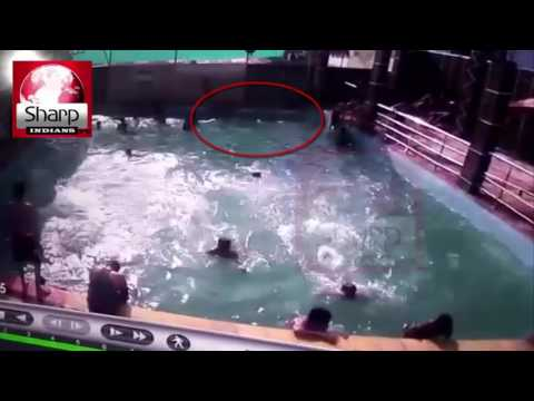 CCTV footage of swimming pool of yesterday's death