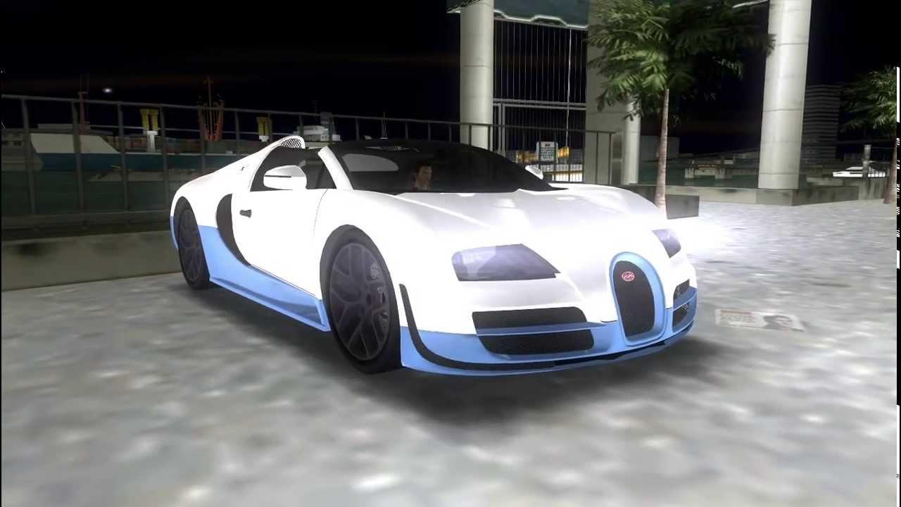 bugatti veyron grand sport vitesse gta vice city youtube. Black Bedroom Furniture Sets. Home Design Ideas