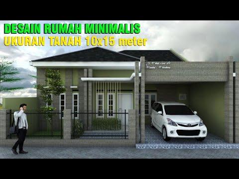 Desain Rumah 10x15 Meter 4 Kamar Tidur Mushala Eps 009 Youtube