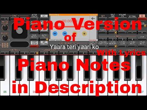 Tere Jaisa Yaar Kahan Piano Version | Amitabh Bachchan | Piano Version | Dosti Song