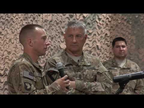 Sergeant Major Of The U.S. Army Speaks To Soldiers