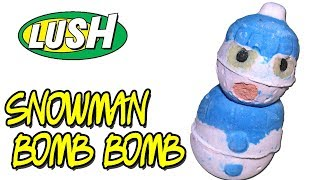 LUSH - SNOWMAN BOMB BOMB Bath Bomb - Christmas 2018 Underwater View DEMO & REVIEW