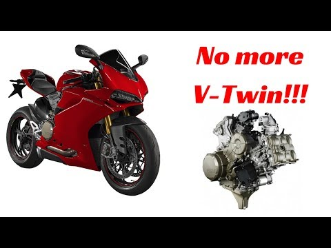 Ducati is ditching their big V-Twin Engine for a V4, but why?