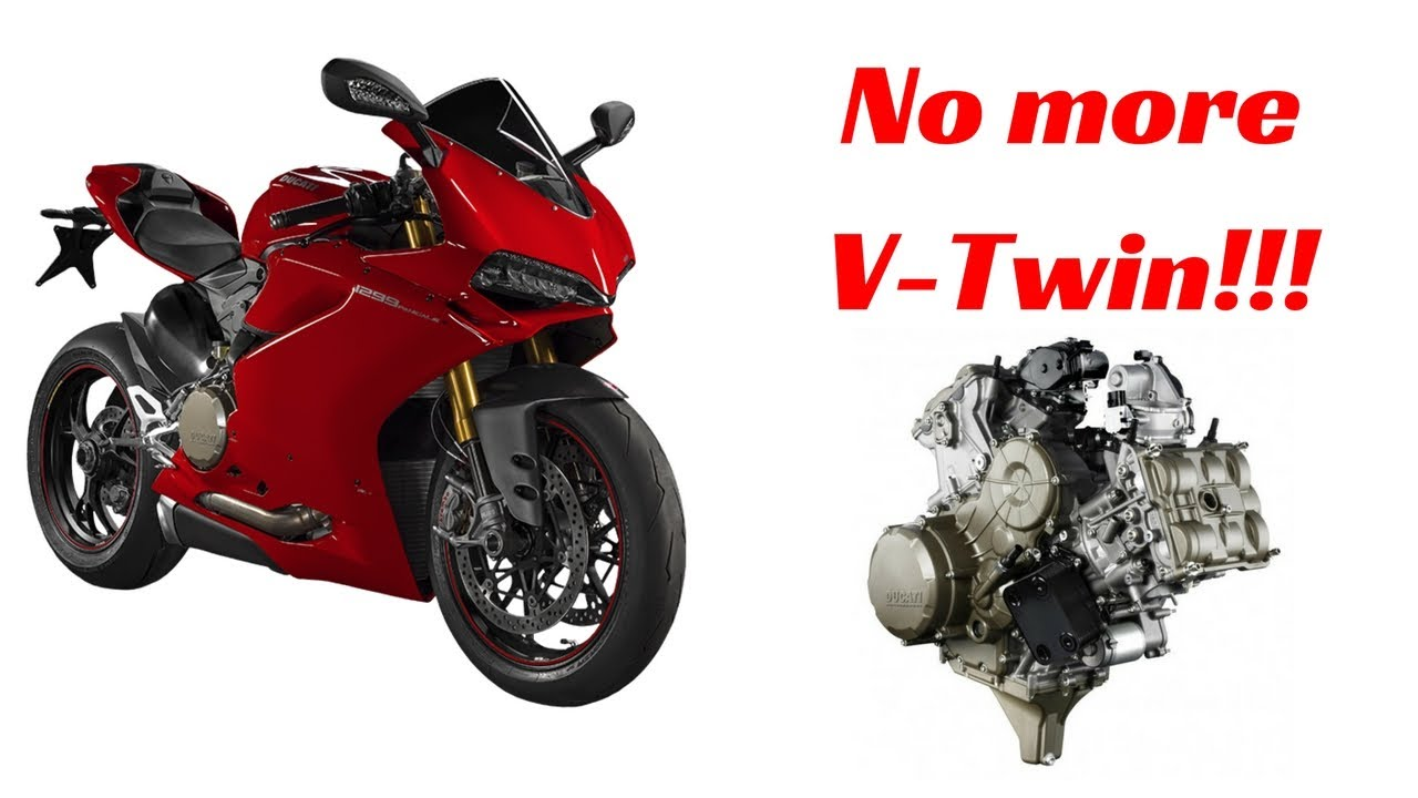 ducati is ditching their big v-twin engine for a v4, but why