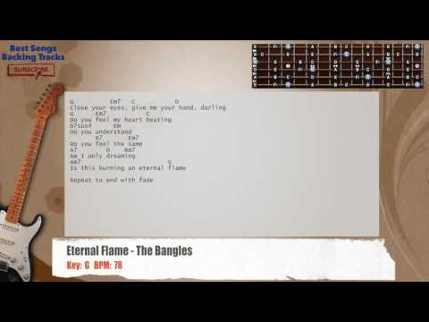 Eternal Flame - The Bangles Guitar Backing Track with chords and lyrics