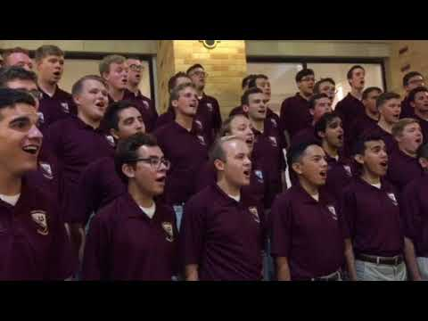 """Texas A&M Singing Cadets """"Texas A&M Fight Song"""" Open Rehearsal 2017"""