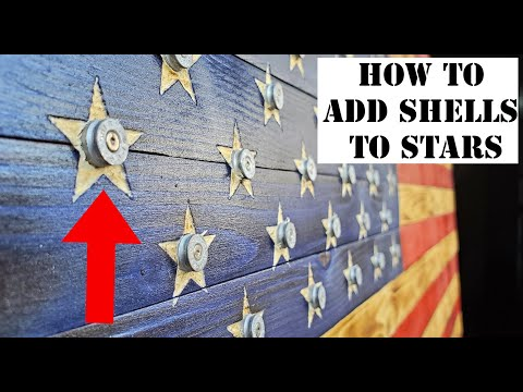 HOW TO ADD THIS TO YOUR WOODEN AMERICAN FLAGS! Step By Step