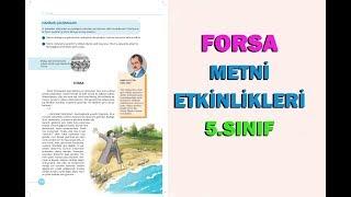 5.Sınıf Forsa Metni Etkinlikleri ve Cevapları
