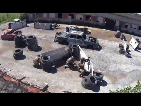 Пейнтбол Красное село в Санкт-Петербурге, видео