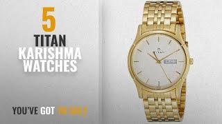 Top 10 Titan Karishma Watches [2018]: Titan Karishma Analog White Dial Men's Watch - 1636YM01