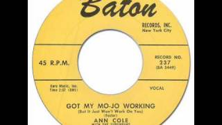 ANN COLE & THE SUBURBANS - Got My Mojo Working [Baton 237] 1957 * Female R&B Rocker