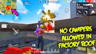 Campers Squad Killed In Factory Roof By @P.K. GAMERS Factory Tricks | Garena Free Fire Factory King