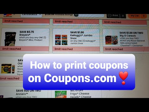 Printing Coupons.com || Steal A Deal #coupons.com #coupons #stockpiling