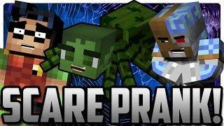 Minecraft: Scare Pranking Robin! (Batman & Robin)