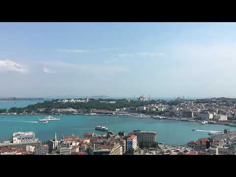Istanbul, the Bosphorus and Golden Horn. Turkey, June 2017.